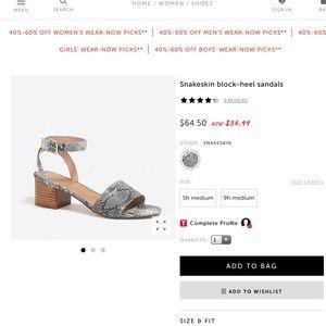 Snakeskin sandals 👡
